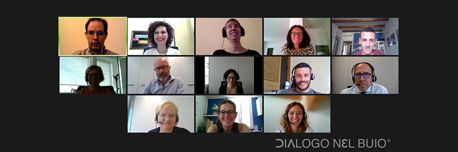 Screenshot dell'incontro con il team di Vittoria Assicurazioni